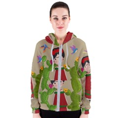 Frida Kahlo Doll Women s Zipper Hoodie by Valentinaart