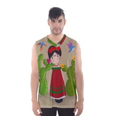 Frida Kahlo Doll Men s Basketball Tank Top by Valentinaart