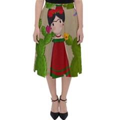 Frida Kahlo Doll Folding Skater Skirt