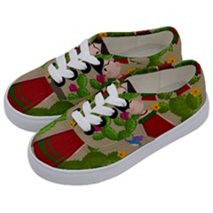 Frida Kahlo Doll Kids  Classic Low Top Sneakers by Valentinaart