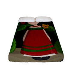 Frida Kahlo Doll Fitted Sheet (full/ Double Size)