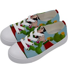 Frida Kahlo Doll Kids  Low Top Canvas Sneakers by Valentinaart