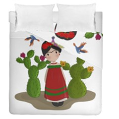 Frida Kahlo Doll Duvet Cover Double Side (queen Size) by Valentinaart