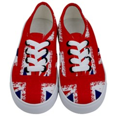 Union Jack London Flag Uk Kids  Classic Low Top Sneakers