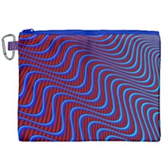 Wave Pattern Background Curves Canvas Cosmetic Bag (xxl) by Celenk