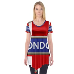 London England Short Sleeve Tunic  by Celenk