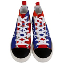 London England Men s Mid Top Canvas Sneakers