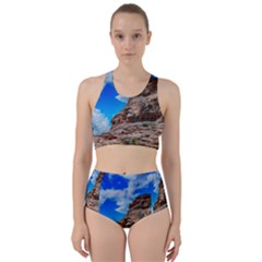 Mountain Canyon Landscape Nature Racer Back Bikini Set