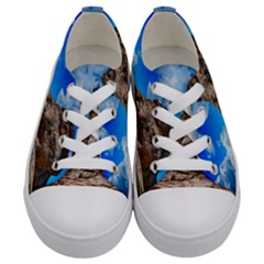 Mountain Canyon Landscape Nature Kids  Low Top Canvas Sneakers