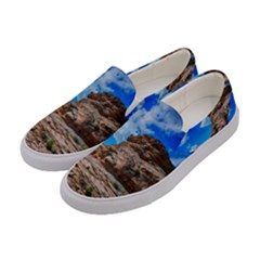 Mountain Canyon Landscape Nature Women s Canvas Slip Ons by Celenk