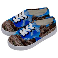 Mountain Canyon Landscape Nature Kids  Classic Low Top Sneakers by Celenk