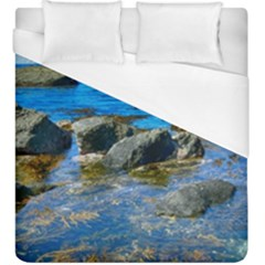 Shoreline Sea Coast Beach Ocean Duvet Cover (king Size)