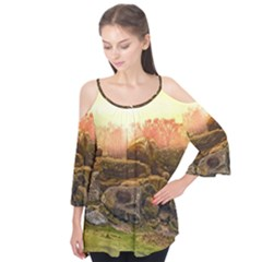 Rocks Outcrop Landscape Formation Flutter Tees
