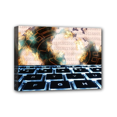 Ransomware Cyber Crime Security Mini Canvas 7  X 5