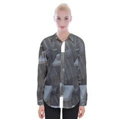 Backdrop Pattern Surface Texture Womens Long Sleeve Shirt