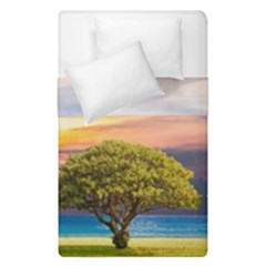 Tree Sea Grass Nature Ocean Duvet Cover Double Side (single Size)