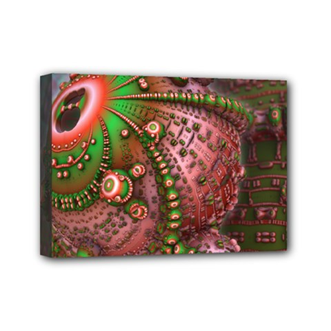 Fractal Symmetry Math Visualization Mini Canvas 7  X 5  by Celenk