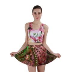 Fractal Symmetry Math Visualization Mini Skirt by Celenk