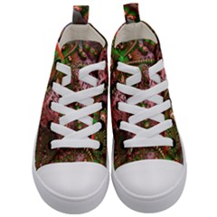 Fractal Symmetry Math Visualization Kid s Mid Top Canvas Sneakers