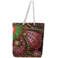 Fractal Symmetry Math Visualization Full Print Rope Handle Tote (large) by Celenk