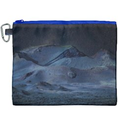 Landscape Night Lunar Sky Scene Canvas Cosmetic Bag (xxxl) by Celenk