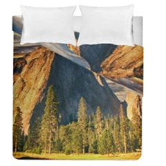 Mountains Landscape Rock Forest Duvet Cover Double Side (queen Size) by Celenk