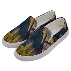 Mountains Landscape Rock Forest Men s Canvas Slip Ons by Celenk