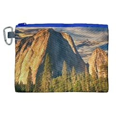 Mountains Landscape Rock Forest Canvas Cosmetic Bag (xl)