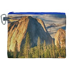 Mountains Landscape Rock Forest Canvas Cosmetic Bag (xxl)