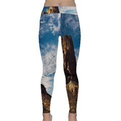 Mountain Desert Landscape Nature Classic Yoga Leggings by Celenk