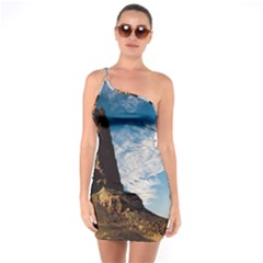 Mountain Desert Landscape Nature One Soulder Bodycon Dress by Celenk