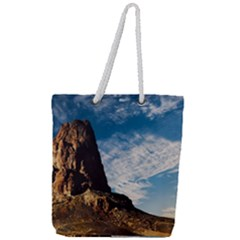 Mountain Desert Landscape Nature Full Print Rope Handle Tote (large)