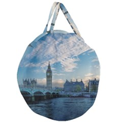 London Westminster Landmark England Giant Round Zipper Tote by Celenk