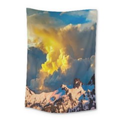 Mountains Clouds Landscape Scenic Small Tapestry