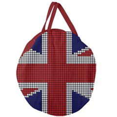 Union Jack Flag British Flag Giant Round Zipper Tote by Celenk