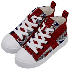 Union Jack Flag British Flag Kid s Mid Top Canvas Sneakers by Celenk