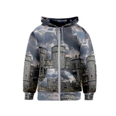 Castle Building Architecture Kids  Zipper Hoodie by Celenk