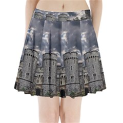 Castle Building Architecture Pleated Mini Skirt