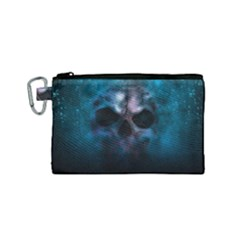 Skull Horror Halloween Death Dead Canvas Cosmetic Bag (small)