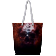 Skull Horror Halloween Death Dead Full Print Rope Handle Tote (small) by Celenk