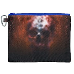 Skull Horror Halloween Death Dead Canvas Cosmetic Bag (xxl)
