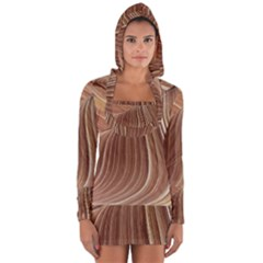 Swirling Patterns Of The Wave Long Sleeve Hooded T-shirt by Celenk