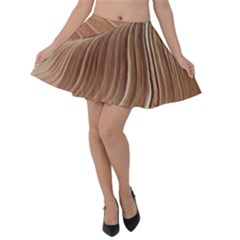 Swirling Patterns Of The Wave Velvet Skater Skirt