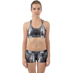 War Destruction Armageddon Disaster Back Web Sports Bra Set