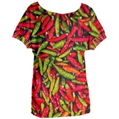 Chilli Pepper Spicy Hot Red Spice Women s Oversized Tee by Celenk