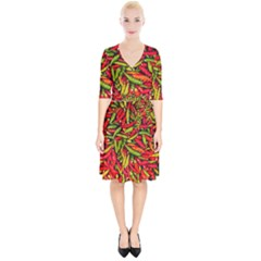 Chilli Pepper Spicy Hot Red Spice Wrap Up Cocktail Dress