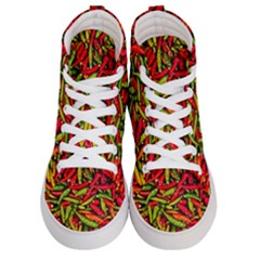 Chilli Pepper Spicy Hot Red Spice Women s Hi Top Skate Sneakers