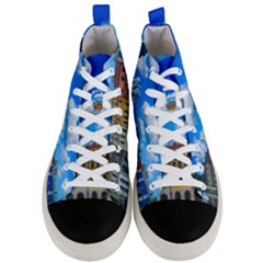 Buildings Architecture Architectural Men s Mid Top Canvas Sneakers