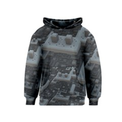 Backdrop Construction Pattern Kids  Pullover Hoodie