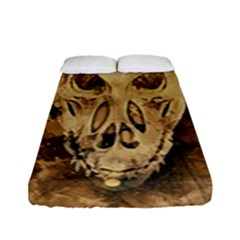 Skull Demon Scary Halloween Horror Fitted Sheet (full/ Double Size) by Celenk